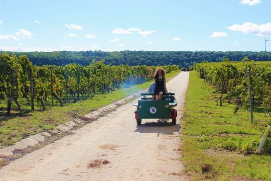 Isabel Gil von Bed & Wine unterwegs im Weinort Hessigheim