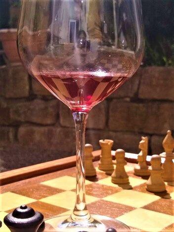 Weinproben in Hessigheim mit Schachspiel Bed & Wine Riesling Spätburgunder