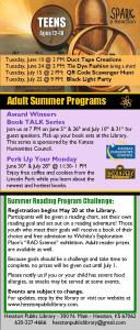 SRP Teen & Adult Schedule 2014