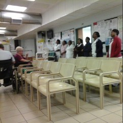 Hospital staff early morning gospel sing-along and prayers