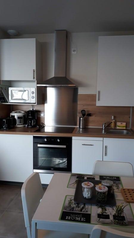 Location proche cure à Jonzac avec cuisine équipée