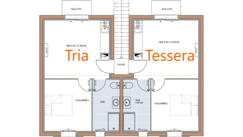 Location thermale Jonzac au centre-ville, plan du premier étage