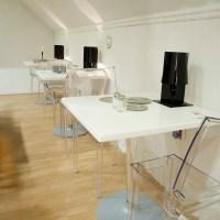 Kartell Top Top tafels 70 x 70 cm. kleine eettafel keukentafel