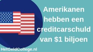De creditcardschuld van Amerika