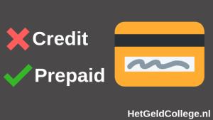 Creditcard of prepaidcard