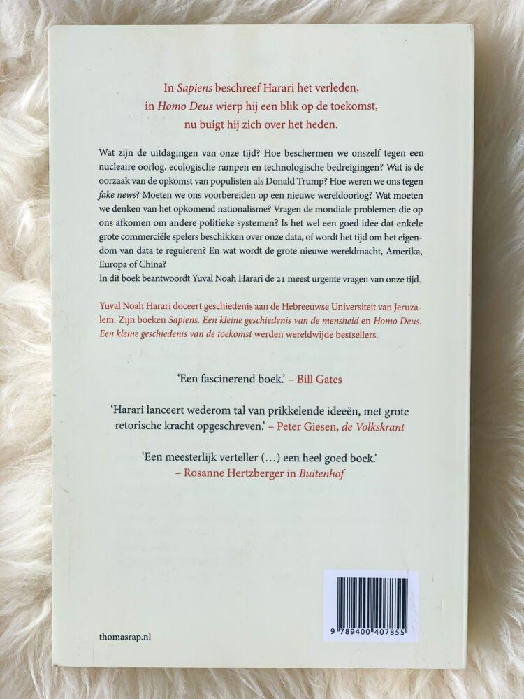Het Gezinsleven - Lifestyle - Hobby's - Boeken - Boek recensie Yuval Noah Harari: Sapiens, Homo Deus en 21 lessen voor de 21ste eeuw - 21 lessen voor de 21ste eeuw