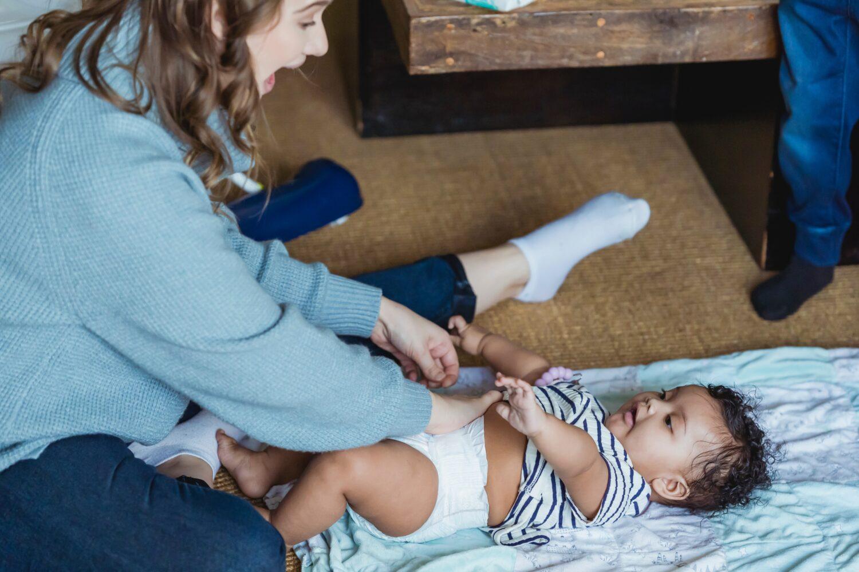 Het Gezinsleven - Moeder en Kind - Kinderen 1-4 jaar - Taalontwikkeling/ hoe krijg je meer interactie met je kind? - Verschonen