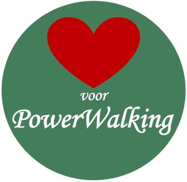 Logo Hart voor PowerWalking icoon insta, eindversie