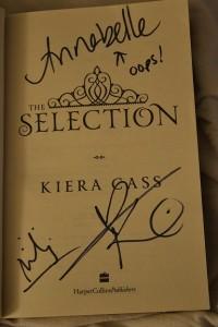 Handtekening Kiera Cass 2