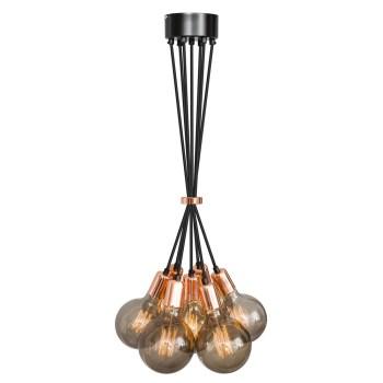 No.3 Hanglamp bundel 7 lichts koper