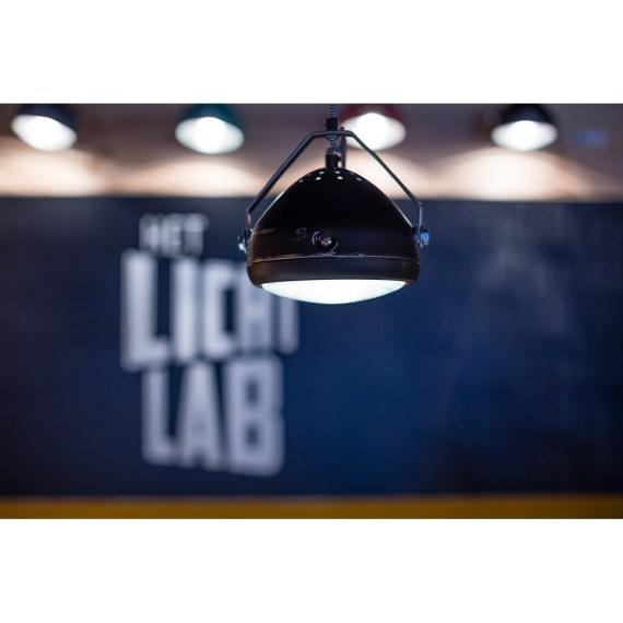 No.5 Hanglamp vintage koplamp zwart
