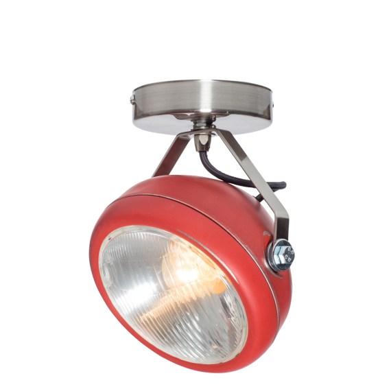 No.7 Spot vintage koplamp rood