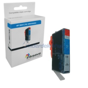 Inksave HP 364 Cyaan Inkt Inktpatroon Inkt cartridge