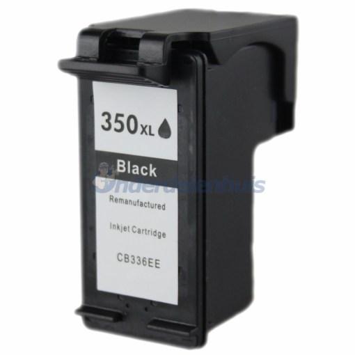 Inkt Inktpatroon HP 350BK Zwart Inkt cartridge