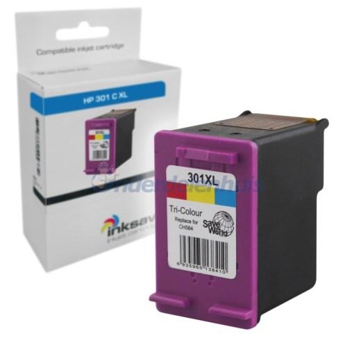 Inksave HP 301 Kleur Inktpatroon Inkt cartridge
