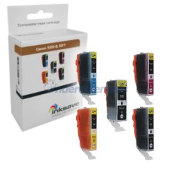 Inksave Canon PGI 520 CLI 521 Inkt Multipack
