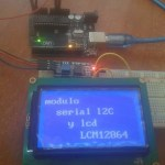 LCD I2C Arduino UNO pantalla 128×64 display