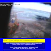 Sennen Cove Webcam thirt message