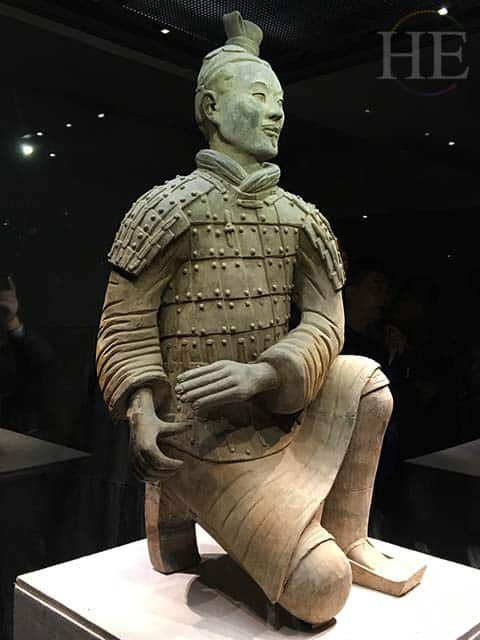 restored and regal terracotta warrior at the terracotta army pits in xi'an china