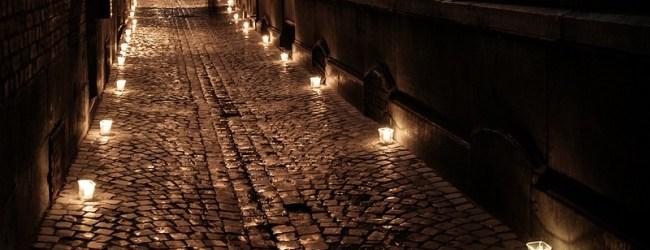 bougies dans la rue