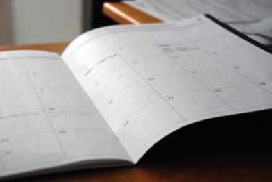calendrier à désencombrer facilement