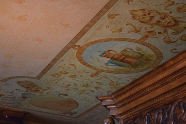 Reproduction of ceiling mural by Justine Wimsatt