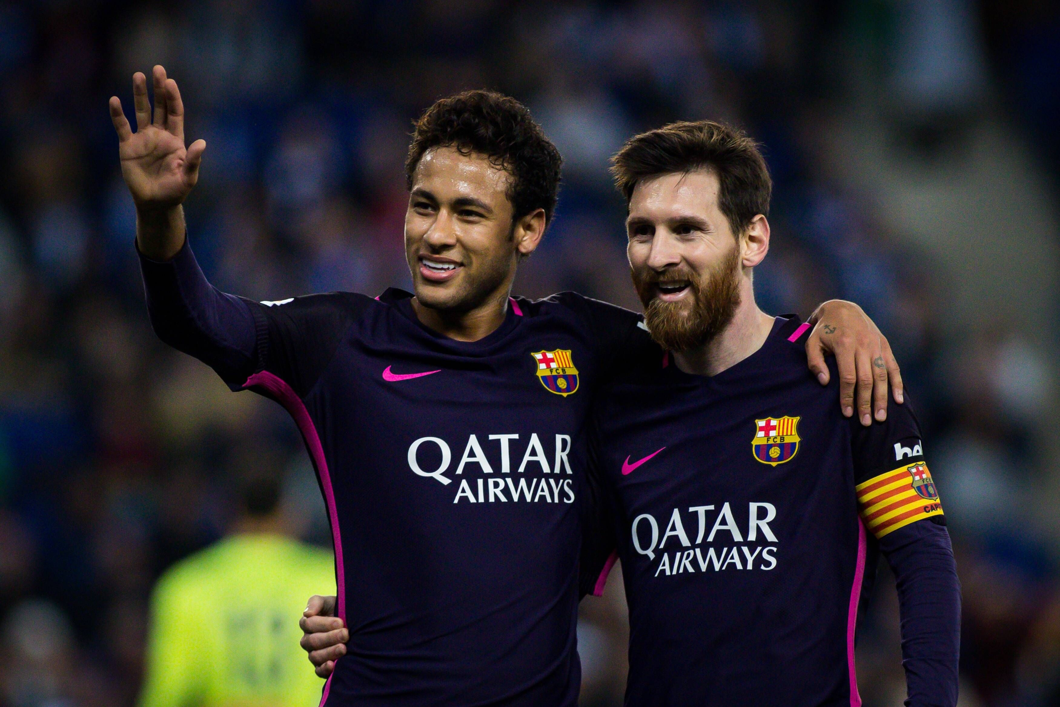 Neymar a Messi