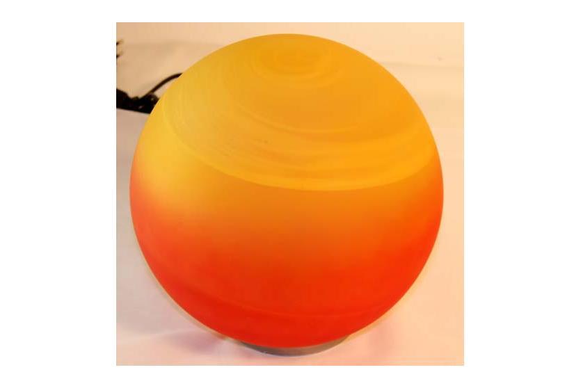 KugellampeTischlampeLampe orange  GLAS  25cm  eBay