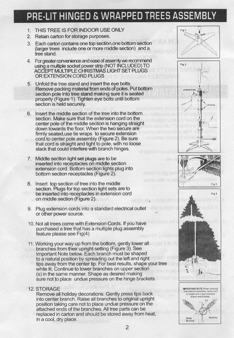 hight resolution of instruction sheet for pre lit pg2