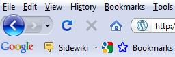 Google's Sidewiki as it appears on your browser toolbar