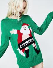 Tipsy Elves Censored Santa Sweater