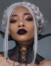 Regal Rose Black Lace Up Corset Choker