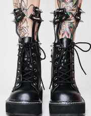 Demonia Devil In Disguise Caged Boots