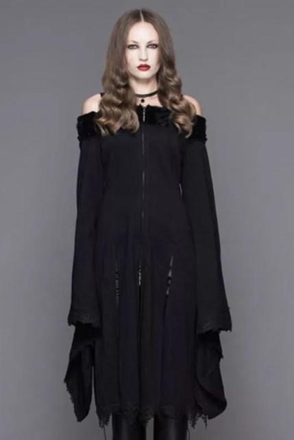 Devil Fashion Bertha Neck Goth Middy Dress