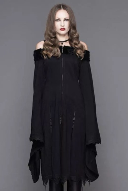 Devil Fashion Bertha Neck Goth Middy Dress