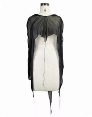 Devil Fashion Goth Sheer Cape