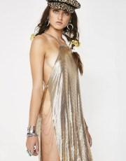 Festival ChainmailMidi Gold Dress