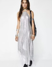 Festival Chainmail Midi Silver Dress