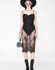 Leotard Lace Black Dress