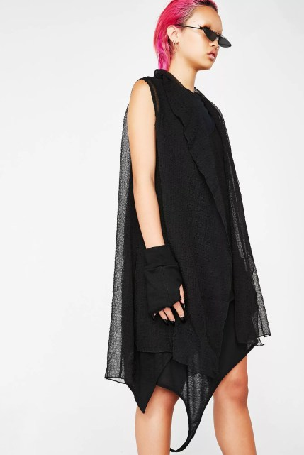 Matter of Black Chiffon Vest