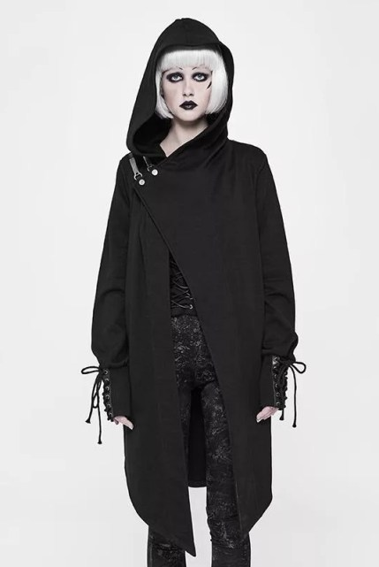 Punk Rave Goth Hooded Coat