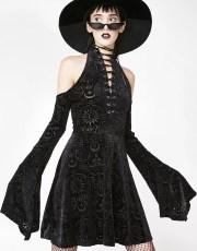 Killstar Vela Burnout Dress