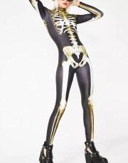 Badinka Graveyard Skeleton Catsuit