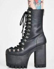 Club Exx Black Ice Platform Boots