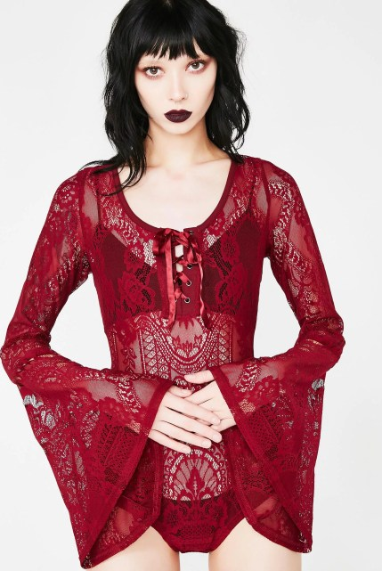 Killstar Bloody Deadly Beloved Bodysuit
