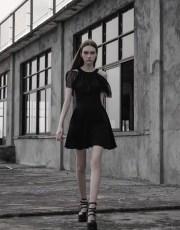 Punk Cape Sleeved Dress