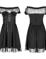 Punk Rave Gothic Burial Off-Shoulder Dress