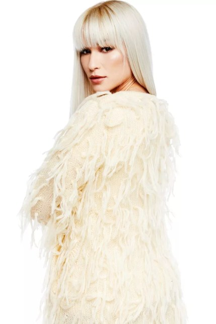 Whole Lotta Love Beige Fringe Cardigan