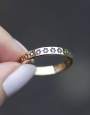 Regal Rose Counting Stars Gold Plated Ring