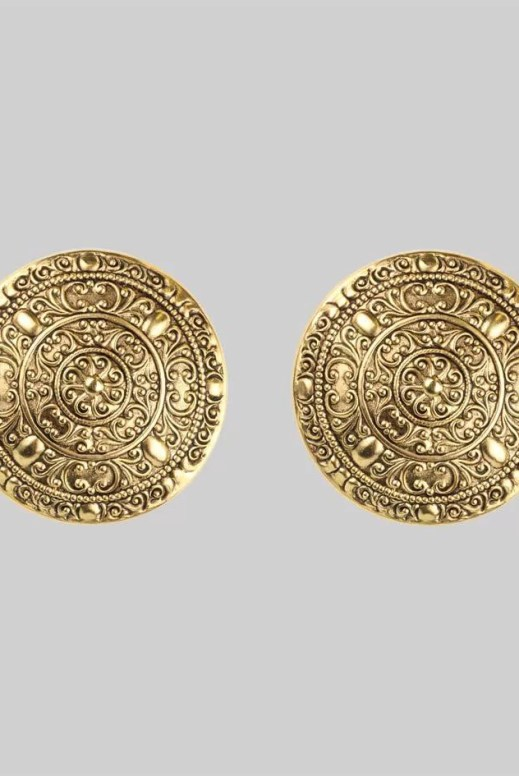 Regal Rose Dominique Oversized Coin Clip Earrings